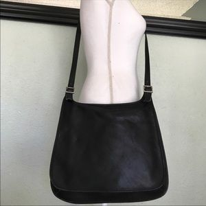 Vintage Coach foldover flap cross body bag